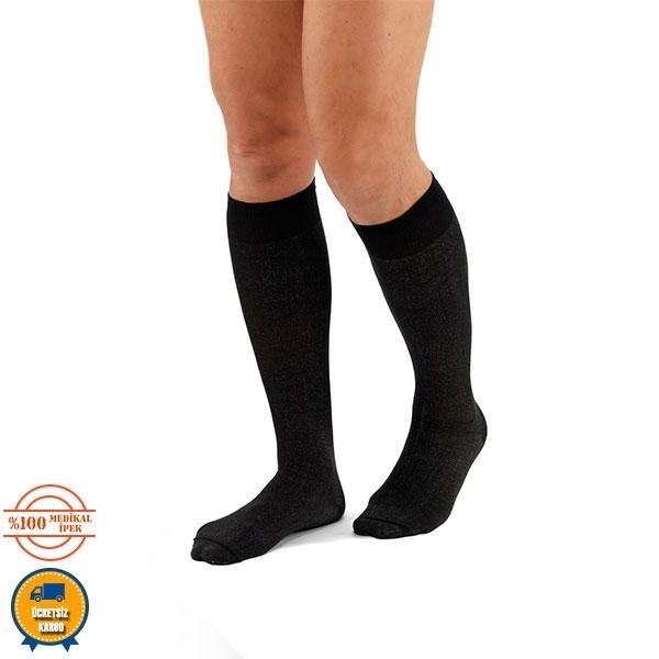 Comfort uzun çorap siyah
